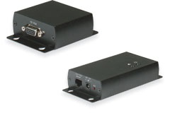 VGA extenders let you install VGA monitors hundreds of meters away from a PC or DVR using CAT5 cable