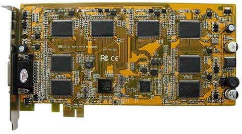 8 channel PCI-E video capture card for Linux and Zoneminder tested with ubuntu.